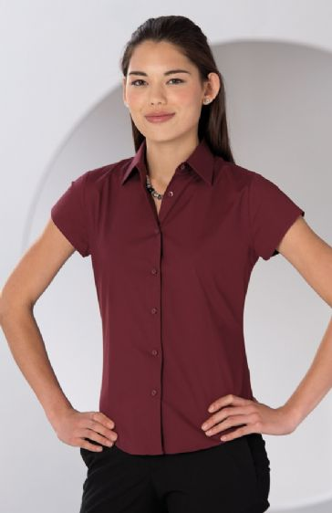 Russell Collection Ladies' Cap Sleeve Easy Care Fitted Shirt